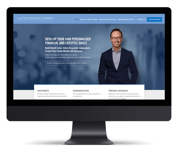 Clayton Financial Planner WordPress Website Design and Development