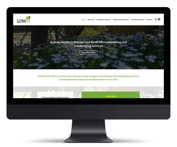 LDM Garden Services WordPress Website Design and Development