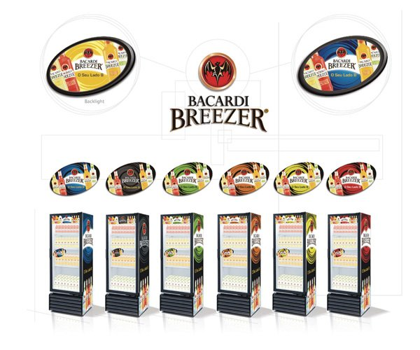 Bacardi Breezer Fridge Signage Design
