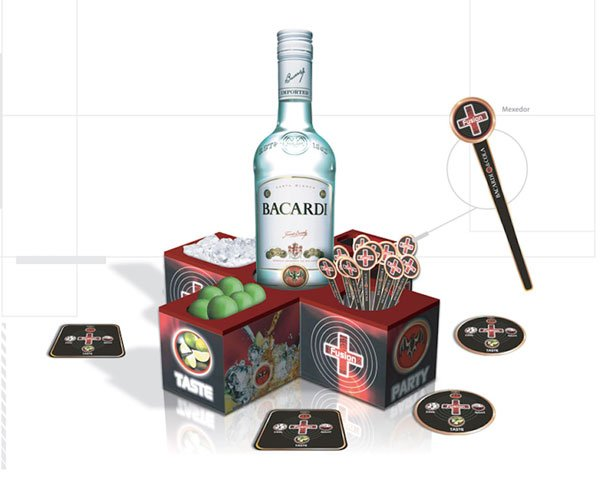 Bacardi Bar Counter display