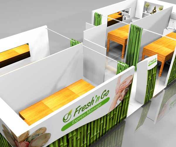 Refresh and Go Massage Mobile Stand Design