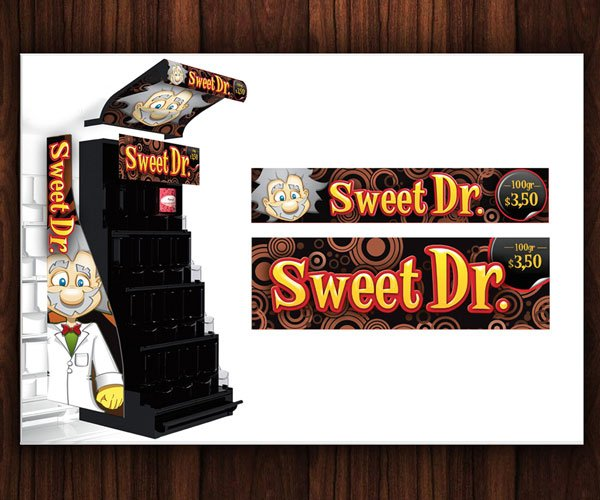Sweet Doctor POS Stand Pick and Mix Design