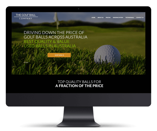 The Golf Ball Company WordPress Website Design and Development