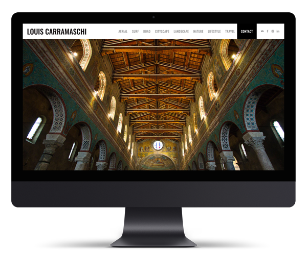Louis Carramaschi Photography WordPress Website Design and Development