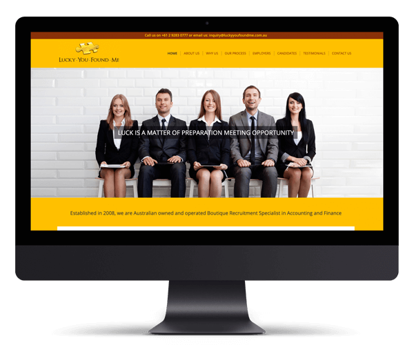 Luck You Found Me Recruitment WordPress Website Design and Development