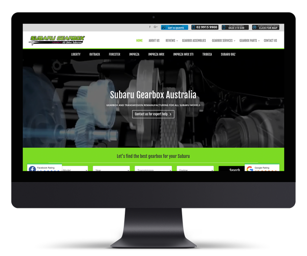 Subaru Gearbox Australia WordPress Website Design and Development