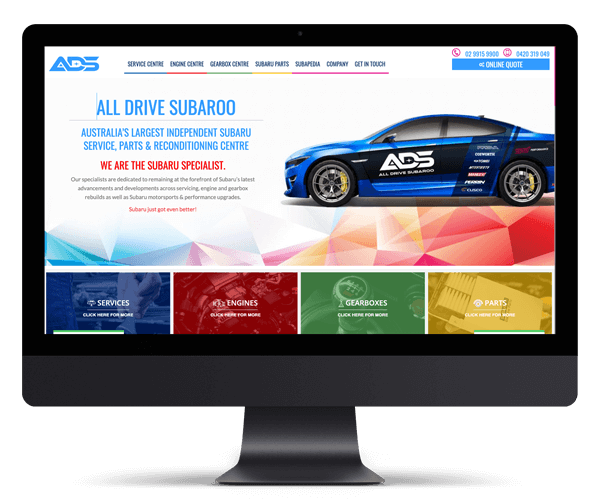 All Drive Subaroo WordPress Website Design and Development