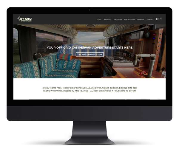 Off Grid Campervans WordPress Website Design and Development