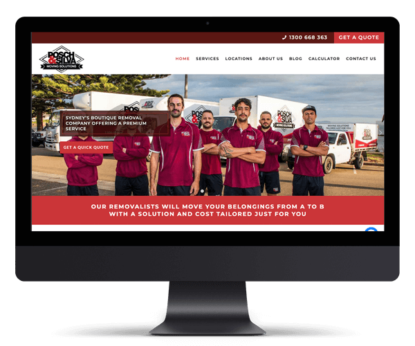 Posch & Silva Removals WordPress Website Design and Development